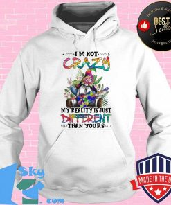 Gnomes hippie guitar i'm not crazy my reality is just different than yours shirt