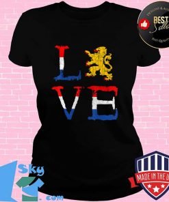 Netherlands Love Nederland Dutch Pride Oranje Lion Crest T-Shirt V-neck