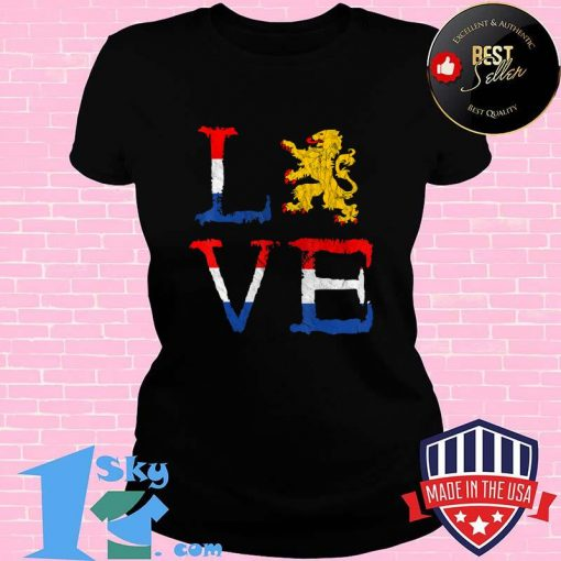 Netherlands Love Nederland Dutch Pride Oranje Lion Crest T-Shirt
