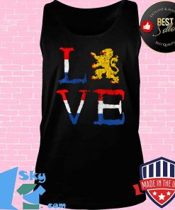Netherlands Love Nederland Dutch Pride Oranje Lion Crest T-Shirt Tank top