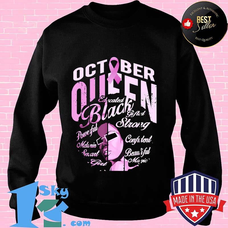313bde11 black woman in october we wear pink breast cancer awareness t shirt sweater - Shop trending - We offer all trend shirts - 1SkyTee