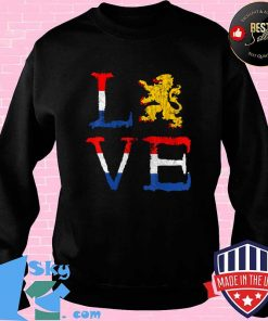 Netherlands Love Nederland Dutch Pride Oranje Lion Crest T-Shirt Sweater
