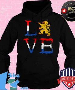 Netherlands Love Nederland Dutch Pride Oranje Lion Crest T-Shirt Hoodie