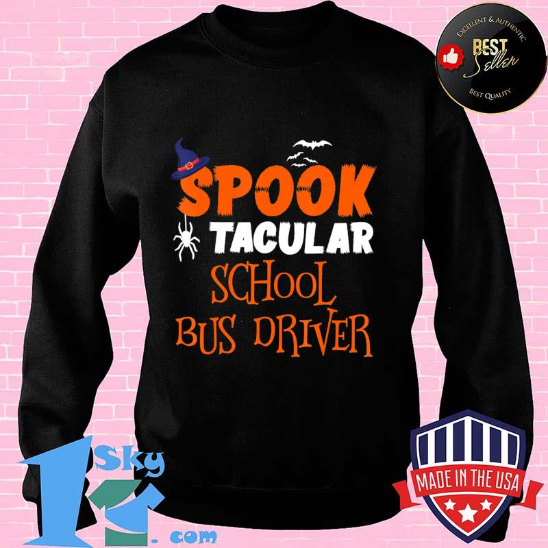 687bb7b1 spooktacular school bus driver funny halloween costume gift t shirt sweater - Shop trending - We offer all trend shirts - 1SkyTee