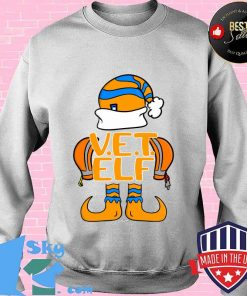 Elves coworker group vet elf swagazon associate christmas s Sweater