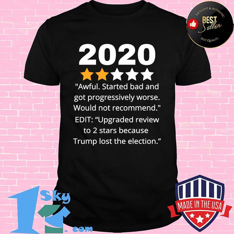 2020 Review Two Stars Awful  Bad Rating Would Not Recommend Shirt