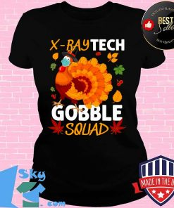 X-Ray Tech Gobble Squad Turkey Face Mask Thanksgiving Shirt V-neck