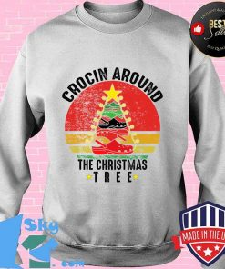 Crocin around the christmas tree funny vintage retro s Sweater