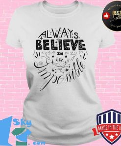 Always Believe In The Impossible Logo Shirt V-neck