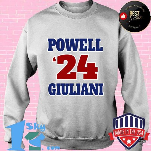 Powell giuliani 2024 sporty and patriotic graphic  shirt