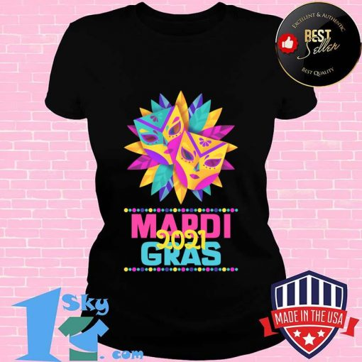 Mardi gras 2021  mask costume parade watcher shirt