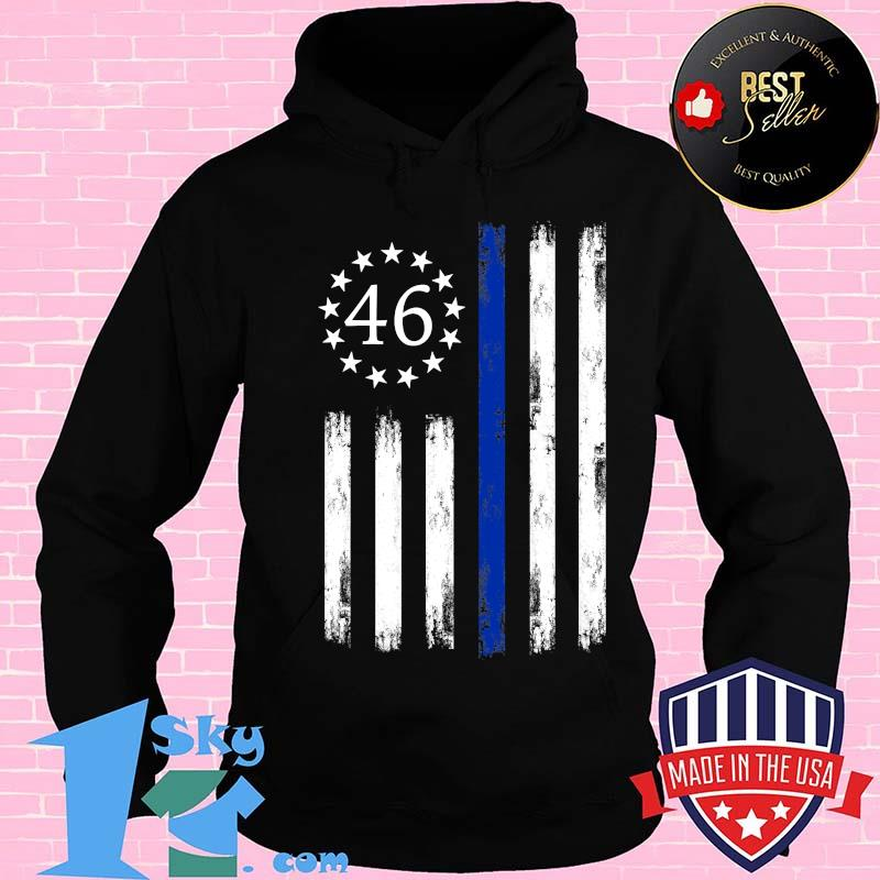 Joe Biden 46 President Betsy Ross Flag Thin Blue Line Shirt