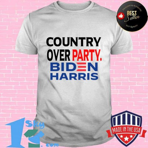 Country Over Party Biden Black Red Blue Election Shirt