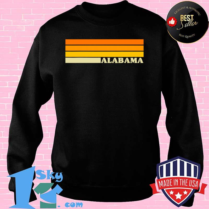 Alabama Colorful Orange Yellow 70s Style Retro Shirt
