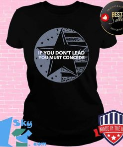 If You Don't Lead You Must Concede American Flag Shirt V-neck