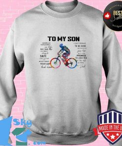 Cycling Dad To My Son Love You Colors Shirt Sweater