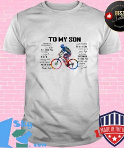 Cycling Dad To My Son Love You Colors Shirt Unisex