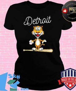 Baseball Distressed 1 Tiger Mascot Shirt V-neck