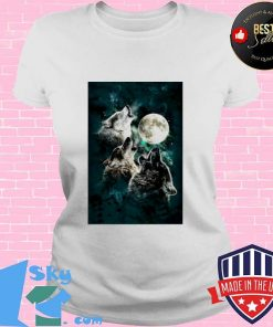 The Mountain Men's Three Wolf And Moon V-neck