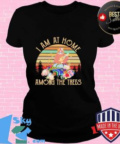 I Am At Home Among the Trees Sloth Vintage Shirt V-neck