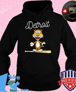 Baseball Distressed 1 Tiger Mascot Shirt Hoodie