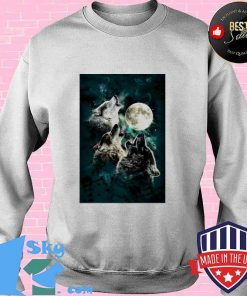 The Mountain Men's Three Wolf And Moon Sweater