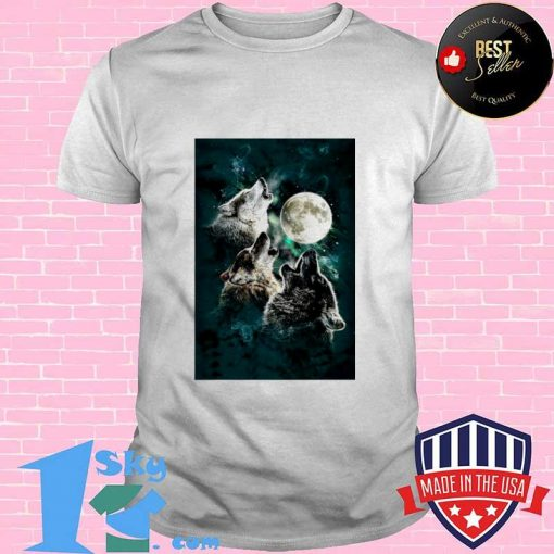 The Mountain Men's Three Wolf And Moon shirt