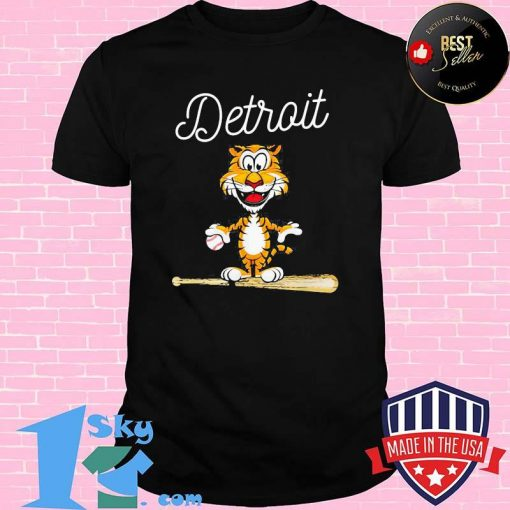 Baseball Distressed 1 Tiger Mascot Shirt