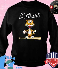 Baseball Distressed 1 Tiger Mascot Shirt Sweater