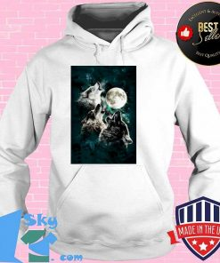 The Mountain Men's Three Wolf And Moon Hoodie