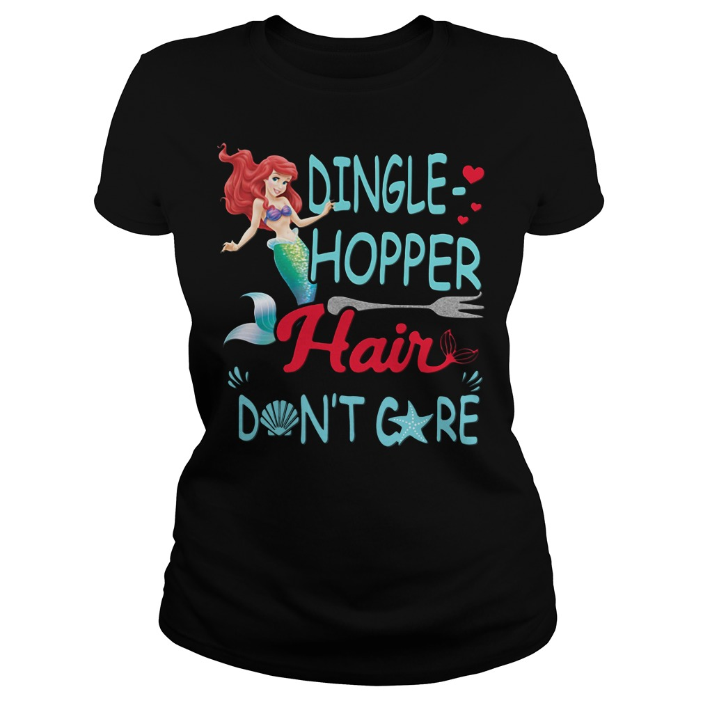 Official Dingle Hopper Hair Don't Care Ladies tee