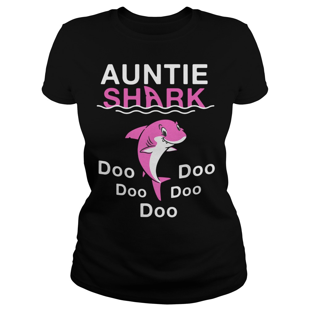 Auntie Shark Do Do Do Do Do ladies tee
