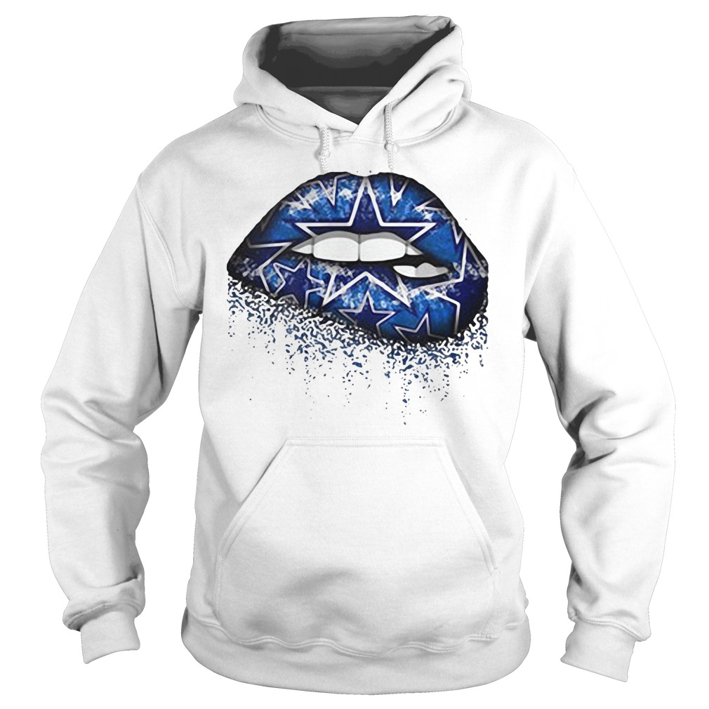 Dallas Cowboys Blue Star Lips Hoodie