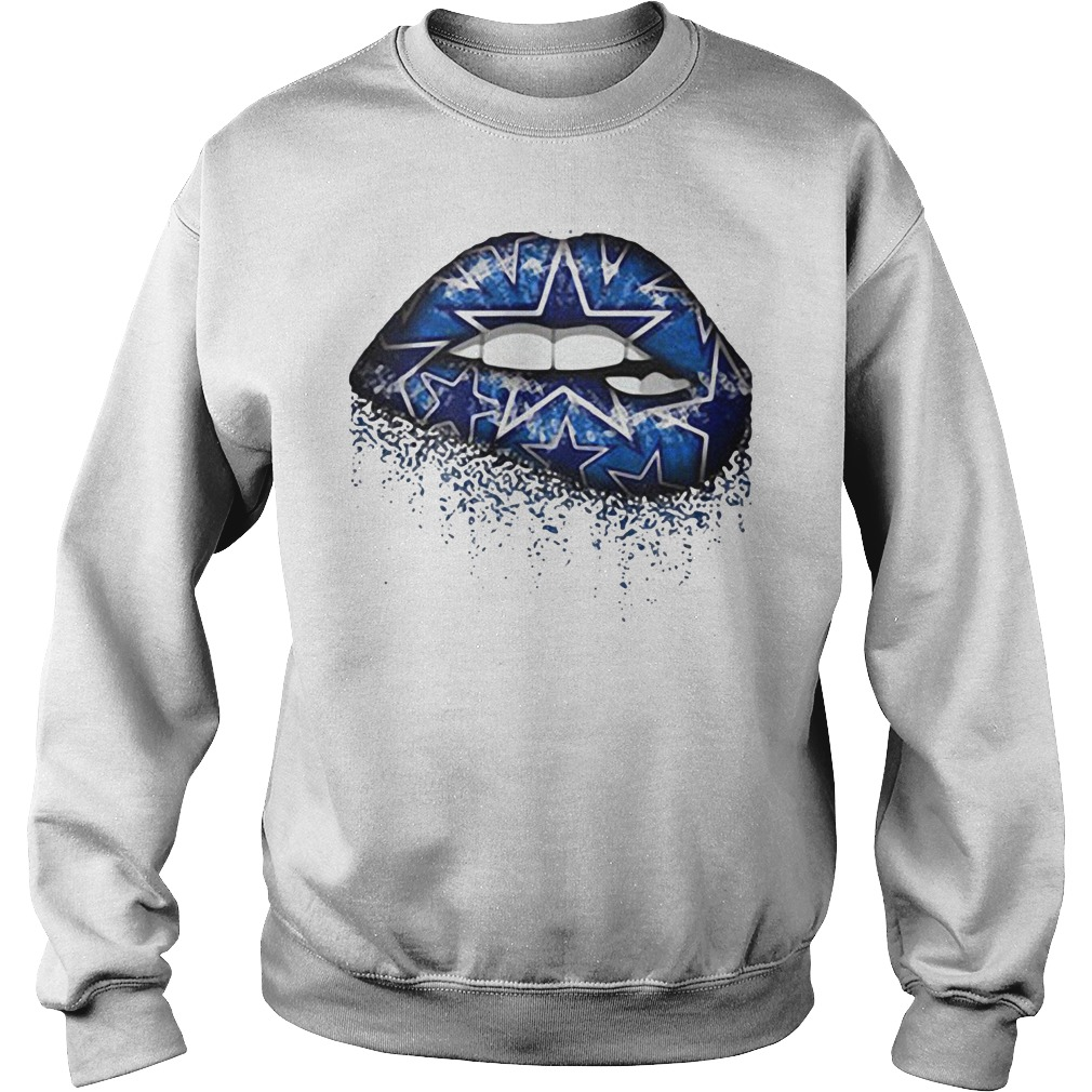 Dallas Cowboys Blue Star Lips SweatShirt