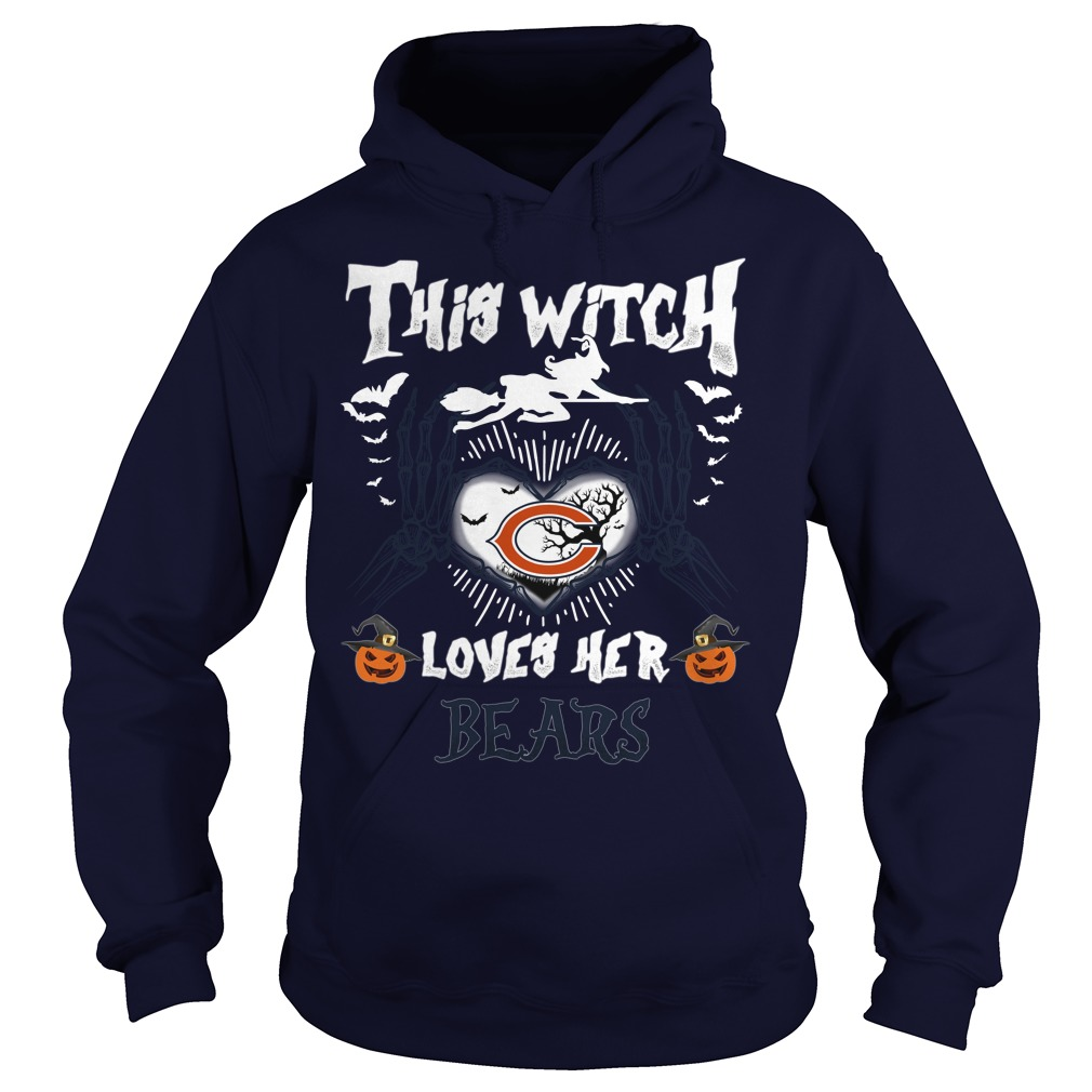 Chicago Bears This Witch Loves Her Bears Halloween hoodie
