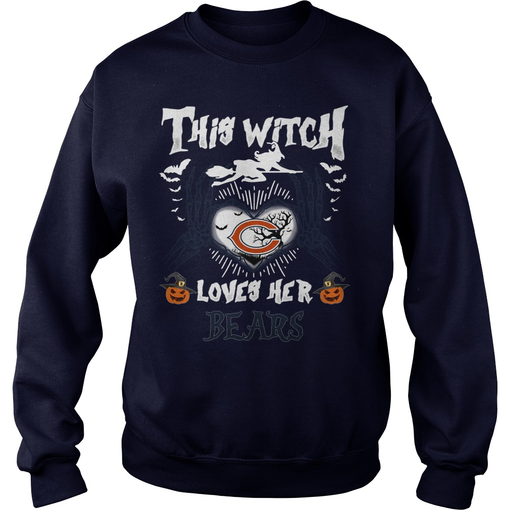 Chicago Bears This Witch Loves Her Bears Halloween SweatShirt