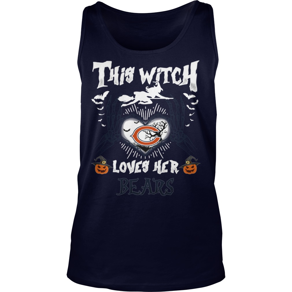 Chicago Bears This Witch Loves Her Bears Halloween tank top