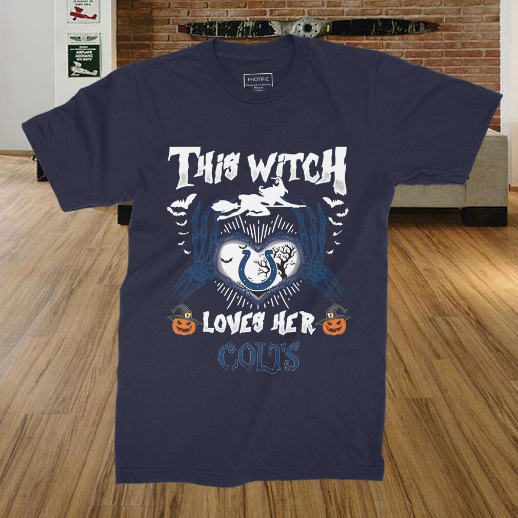 indianapolis colts this witch loves her colts halloween shirt, hoodie