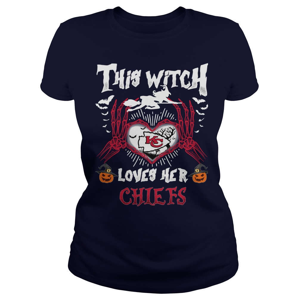 Kansas City This Witch Loves Her Chiefs Halloween Ladies tee