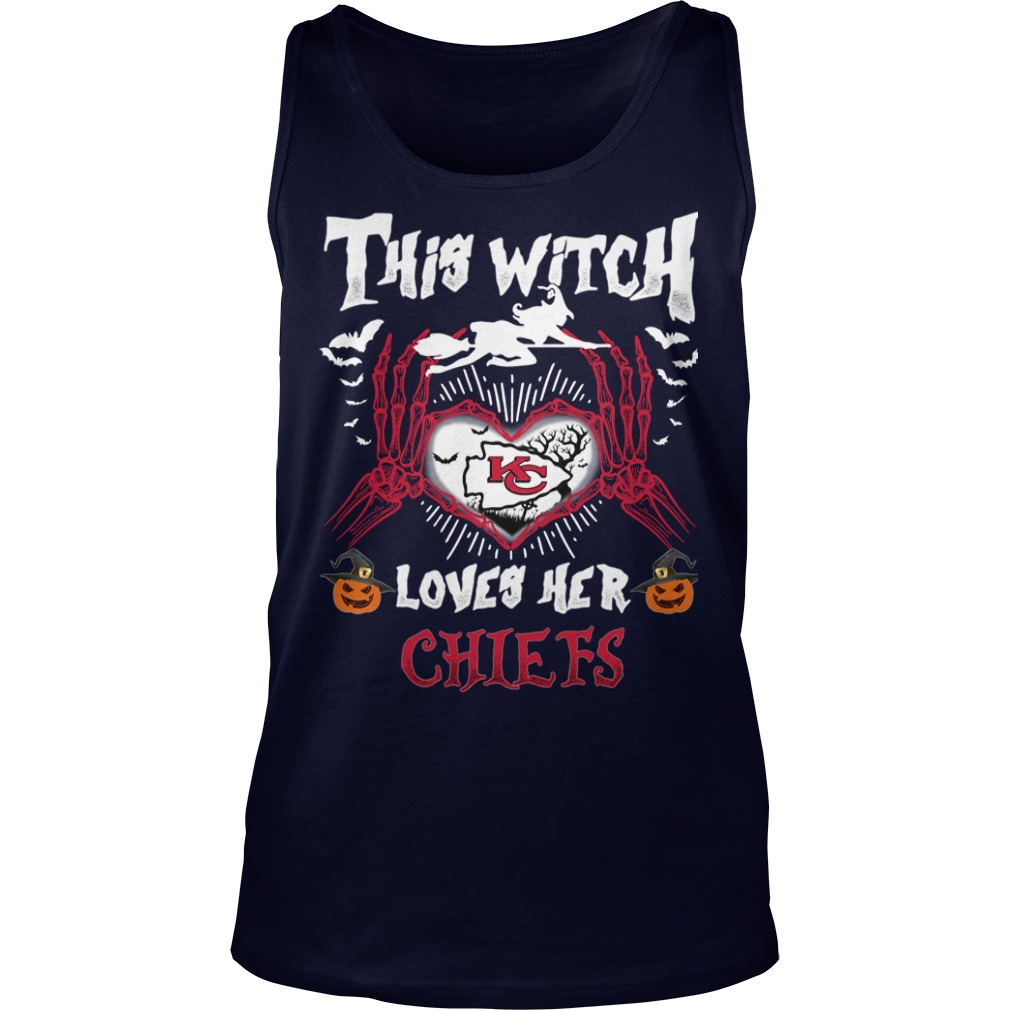 Kansas City This Witch Loves Her Chiefs Halloween Tank top