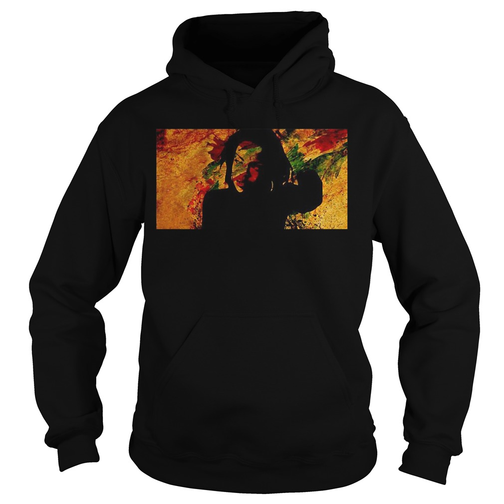 Lauryn Hill Watercolor Graphic Hoodie