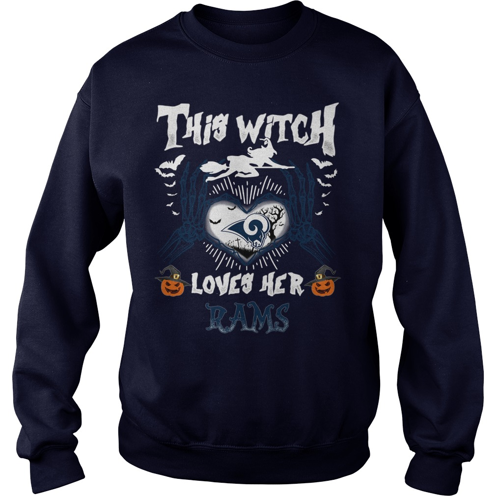 Los Angeles Rams This Witch Loves Her Rams Halloween SweatShirt