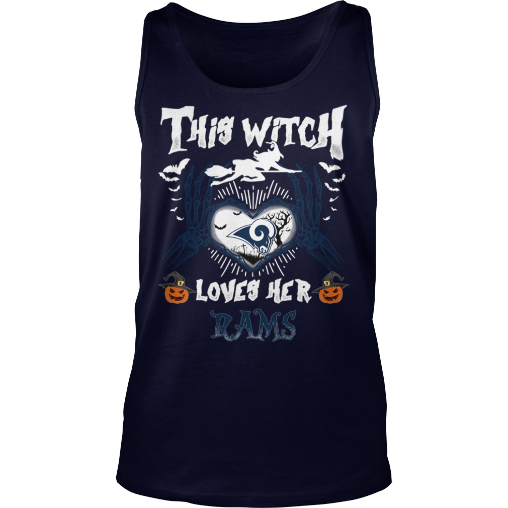 Los Angeles Rams This Witch Loves Her Rams Halloween tank top