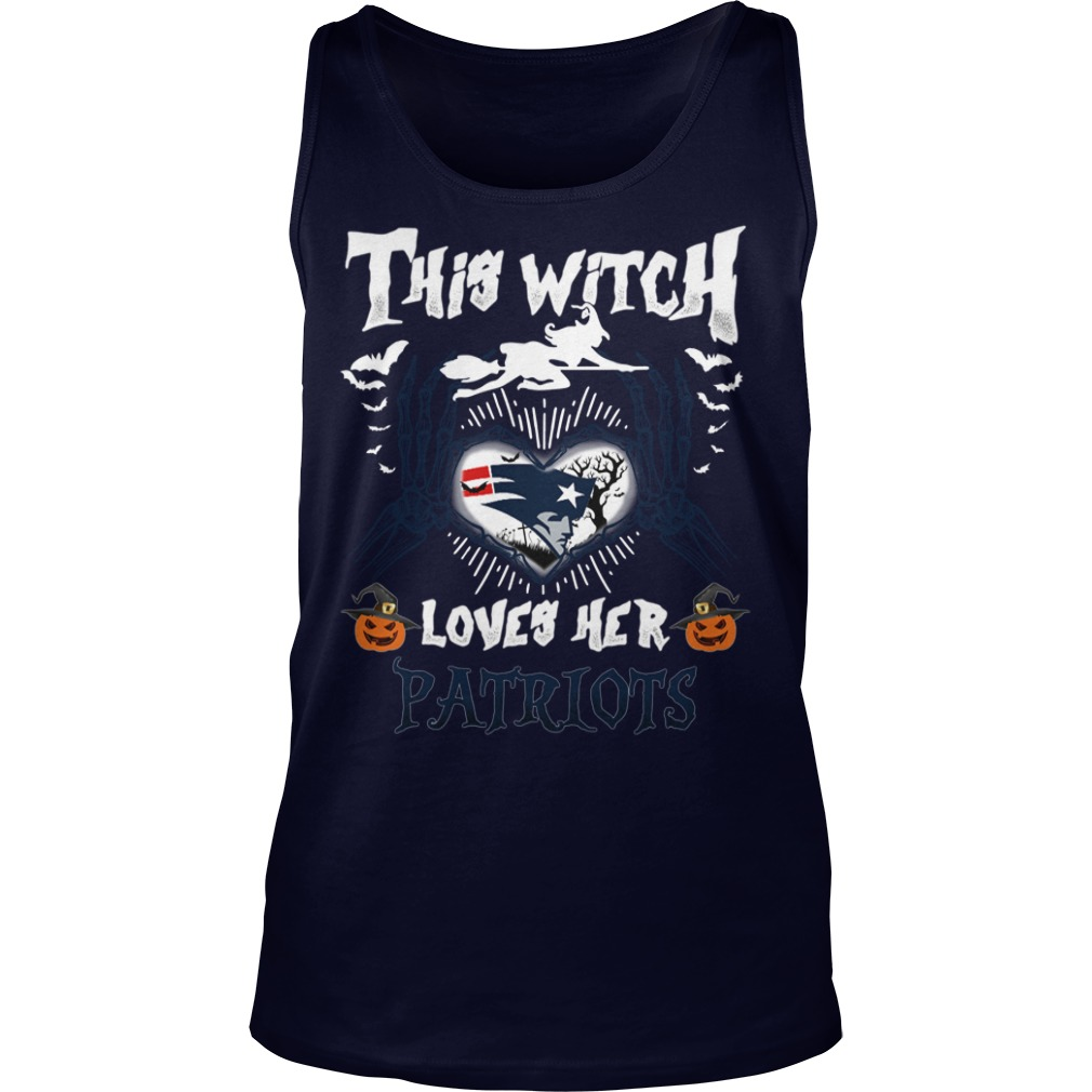 New England Patriots This Witch Loves Her Patriots Halloween Tank Top