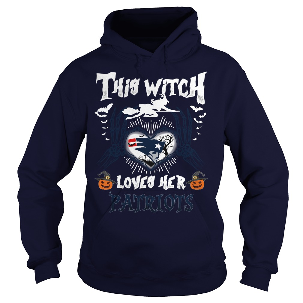 New England Patriots Witch Loves Patriots Halloween Hoodie