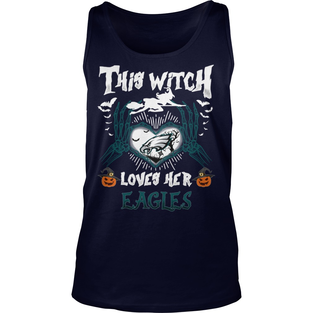 Philadelphia Eagles This Witch Loves Her Eagles Halloween tank top