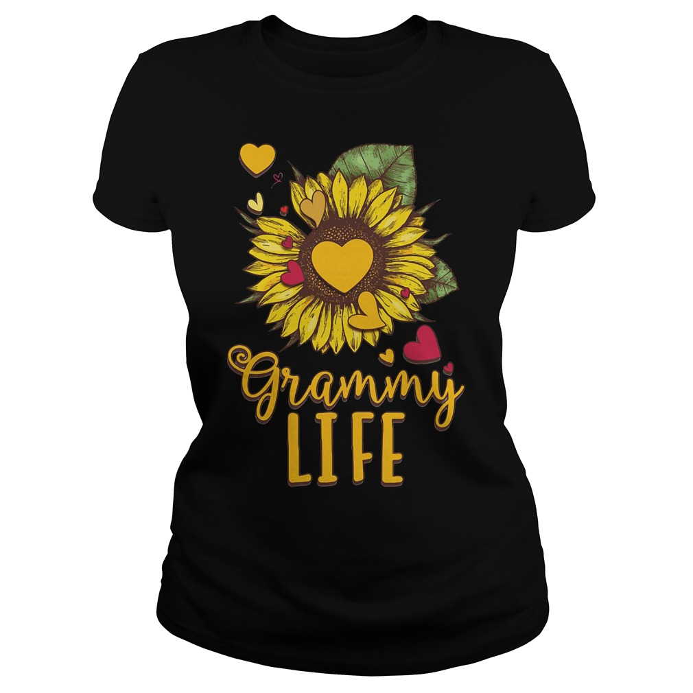 Sunflower Love Grammy Life ladies tee