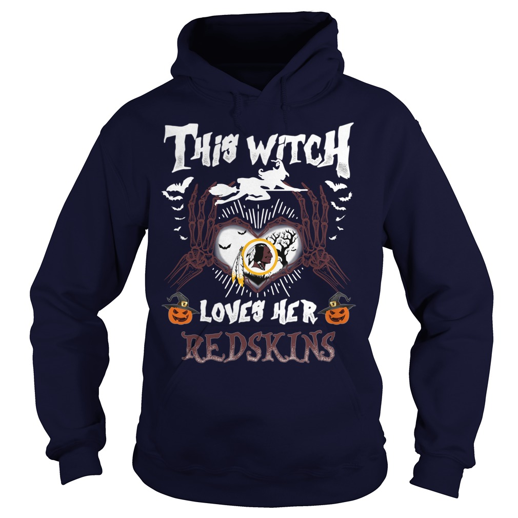 Washington Redskins This Witch Loves Her Redskins Halloween hoodie