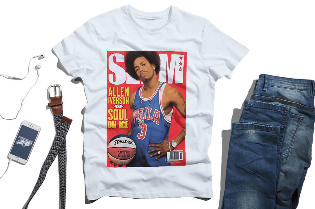 new style 18eb7 af316 Allen Iverson soul on ice Spalding old school issue shirt ...