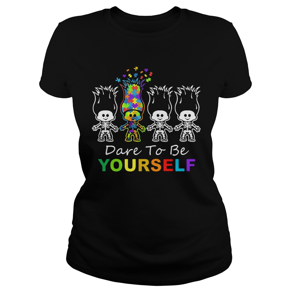 Official Dabbing Skeleton Dare To Yourself ladies tee
